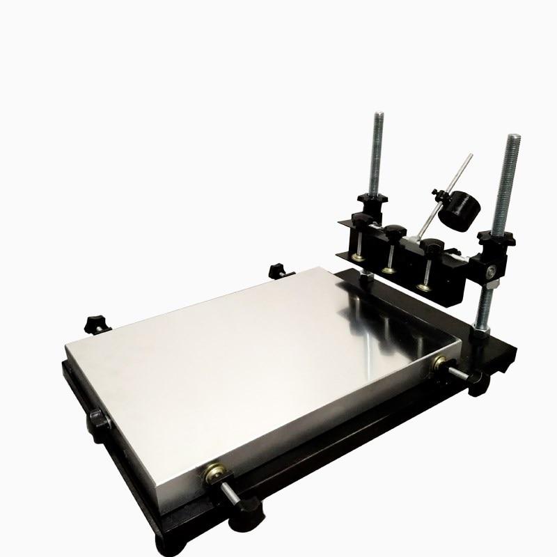 1 قطعة طباعة الشاشة لون واحد تي شيرت آلة طباعة الشاشة شقة طباعة الصحافة منطقة الطباعة 320*440 مللي متر
