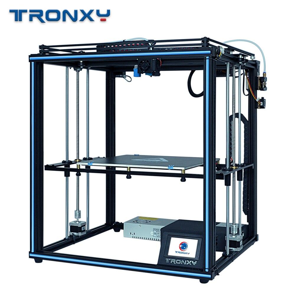 Tronxy 2020 Модернизированный X5SA 24V источник питания 3d принтер полностью металлический CoreXY DIY наборы 24V тепловой стол 330*330 мм авто уровень 3d печать