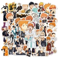 haikyuu stickers japanese anime for decal on guitar suitcase laptop phone fridge car motorcycle notebook kid toys gift