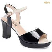 thick heel fish mouth sandals women new 2021 summer footwear high heels ladies shoes patent leather platform sandals