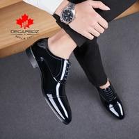 Men Formal Shoes 2021 Autumn New Business Office Wedding Footwear Black Fashion Designed Dress Shoes Leather Lace-Up Men Shoes