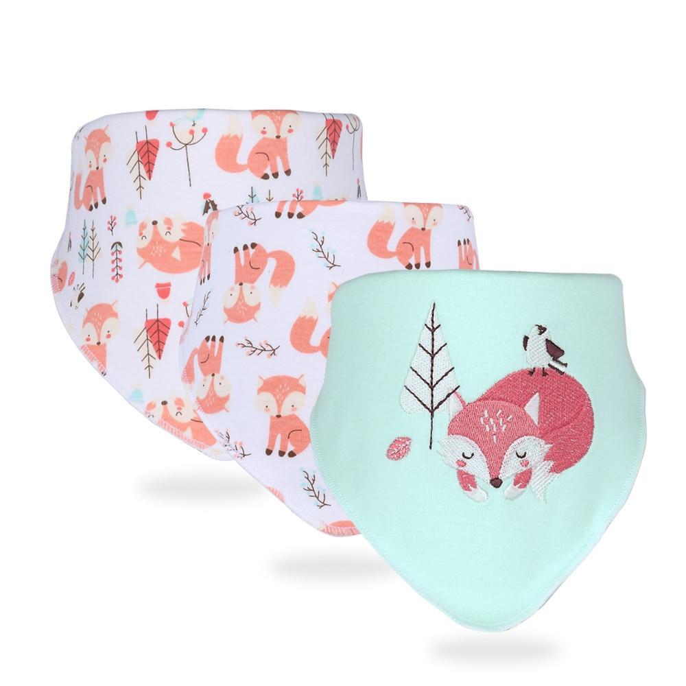 2020 New Style Cotton Baby Products Infant Snap Closure Triangular Baby Bibs Cotton fashion CHILDREN'S Bib Baby Stuff