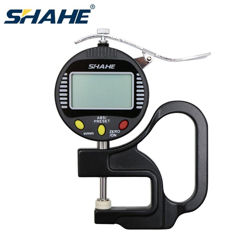 SHAHE 0.001 مللي متر 10 مللي متر سمك مقياس رقمي paquimetro الرقمية إينوكس سمك المعادن قياس المحسس الرقمي