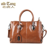 OLD TANG Vintage Luxury Leather Shoulder Bags for Women 2021 New Designer Ladies Handbag Casual Conc