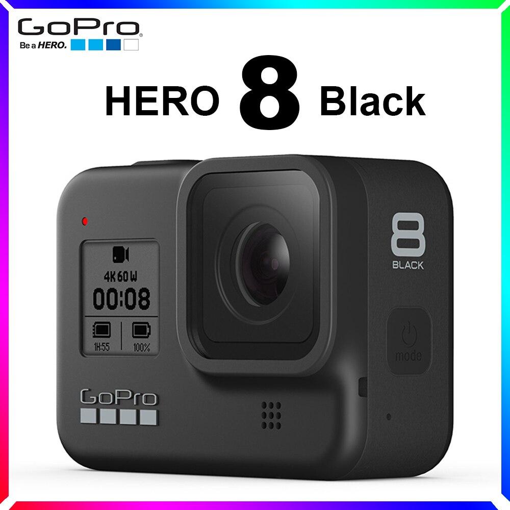 GoPro HERO 8 أسود مقاوم للماء عمل كاميرا تعمل باللمس 4K الترا HD فيديو 12MP صور 1080p بث مباشر الرياضة الاستقرار