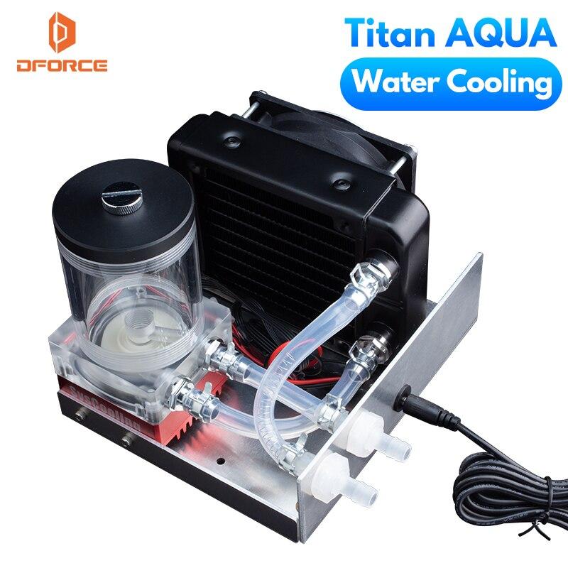 Dforce-مجموعة تبريد المياه ، Titan AQUA ، للطابعة ثلاثية الأبعاد ، DIY ، جهاز بثق E3D Hotend Titan ، مجموعة ترقية طابعة TEVO ثلاثية الأبعاد