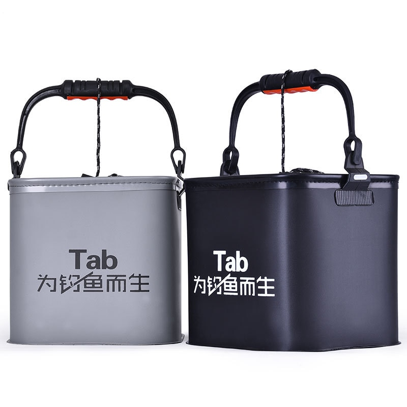 7/10 / 13l Foldable Fishing Bucket Folding Thick Eva Live Fish Tank Water Tank Bucket Camping Outdoor Fishing Equipment