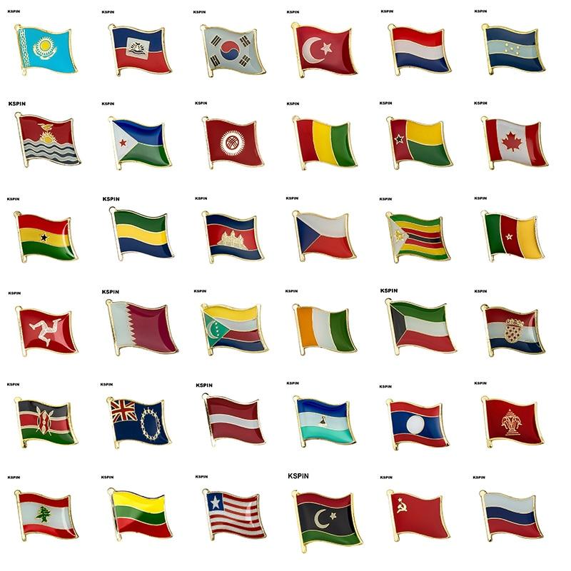 Bandera Laple insignia Pin broche Camboya Canadá República Checa Zimbabue Kuwait Croacia Kenia Kazajstán Haití Corea del Sur Turquía