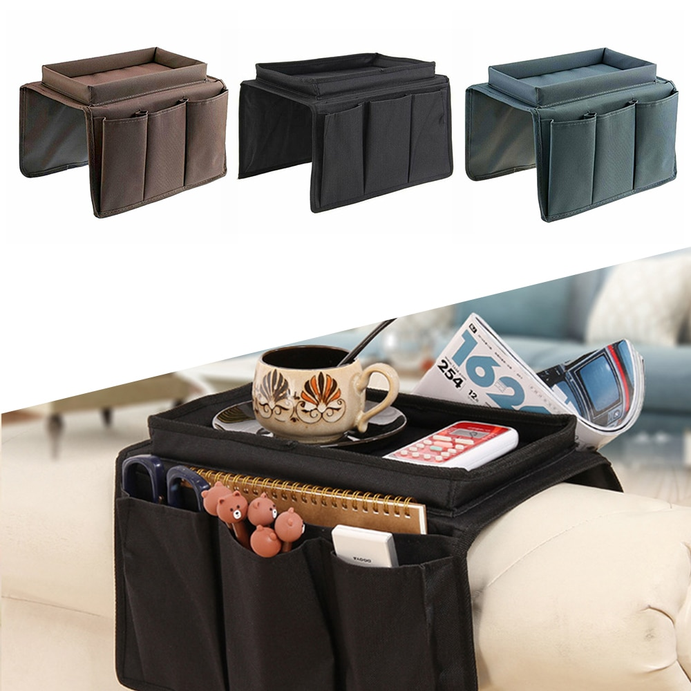 Подлокотник для дивана, органайзер с 4 карманами и подстаканником для чашек, подвесная сумка для хранения кушетки, кресла, телевизора, пульт...