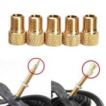 Adaptador de válvula para bomba de conversión Presta a Schrader, adaptador de válvula de cobre, ruedas, boquilla de Gas, herramienta de tubo, accesorios para bicicleta, 4 Uds.