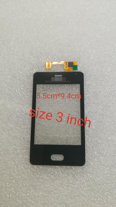 3.0 mobile mobile painel da tela de toque móvel para nokia asha 501 n501 toque digitador da tela sensor lente vidro frontal painel touchscreen ferramentas