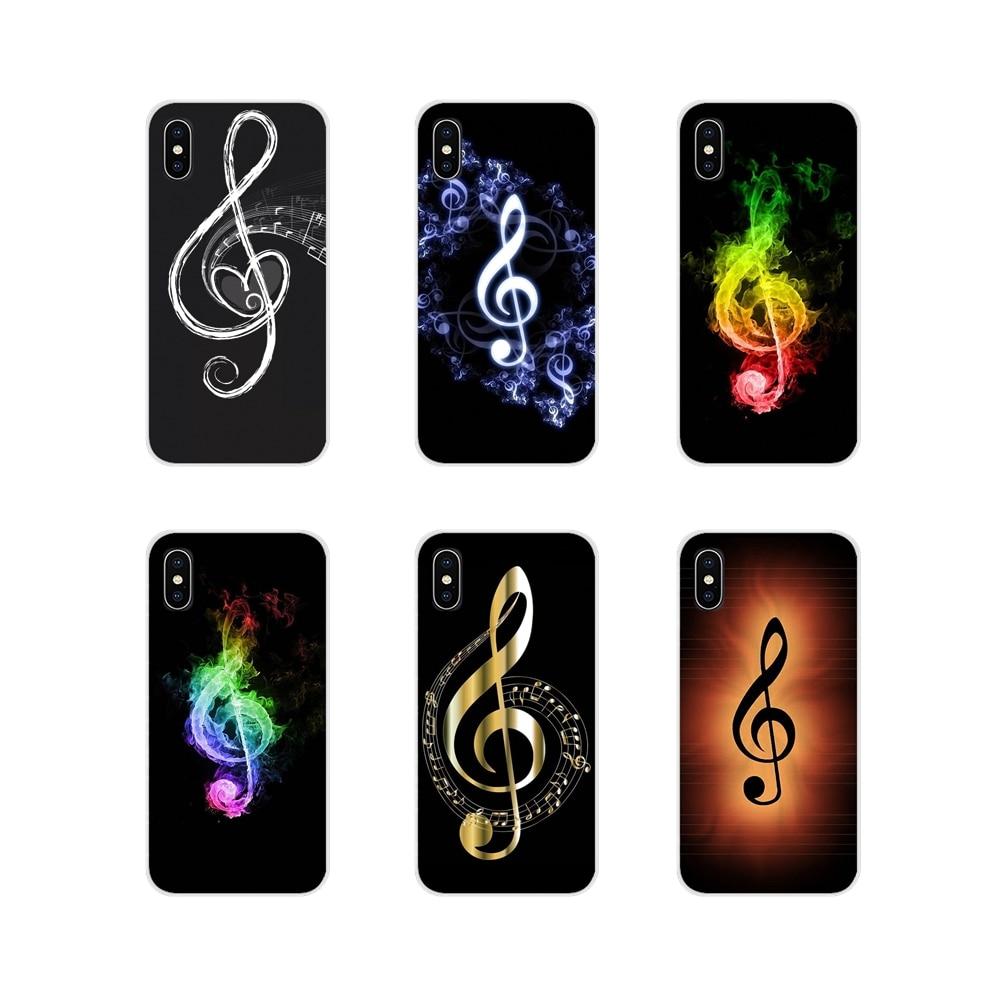 Para Samsung Galaxy S2 S3 S4 S5 Mini S6 S7 borde S8 S9 S10E Lite más me encanta la música antigua nota musical sonido de la cáscara del teléfono móvil casos
