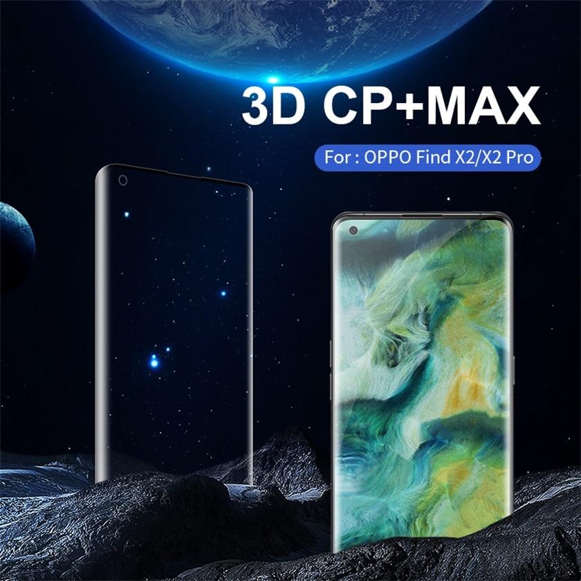 Para OPPO Find X2 Pro de vidrio templado de pantalla de cobertura completa protector nillkin 3D CP + Max 9H pantalla HD película de vidrio para OPPO encuentra X2