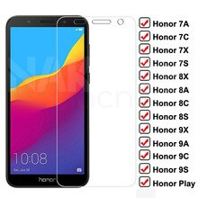 9H Protective Glass on For Huawei Honor 7A 7X 7C 7S Tempered Screen Protector For Honor 8X 8A 8C 8S