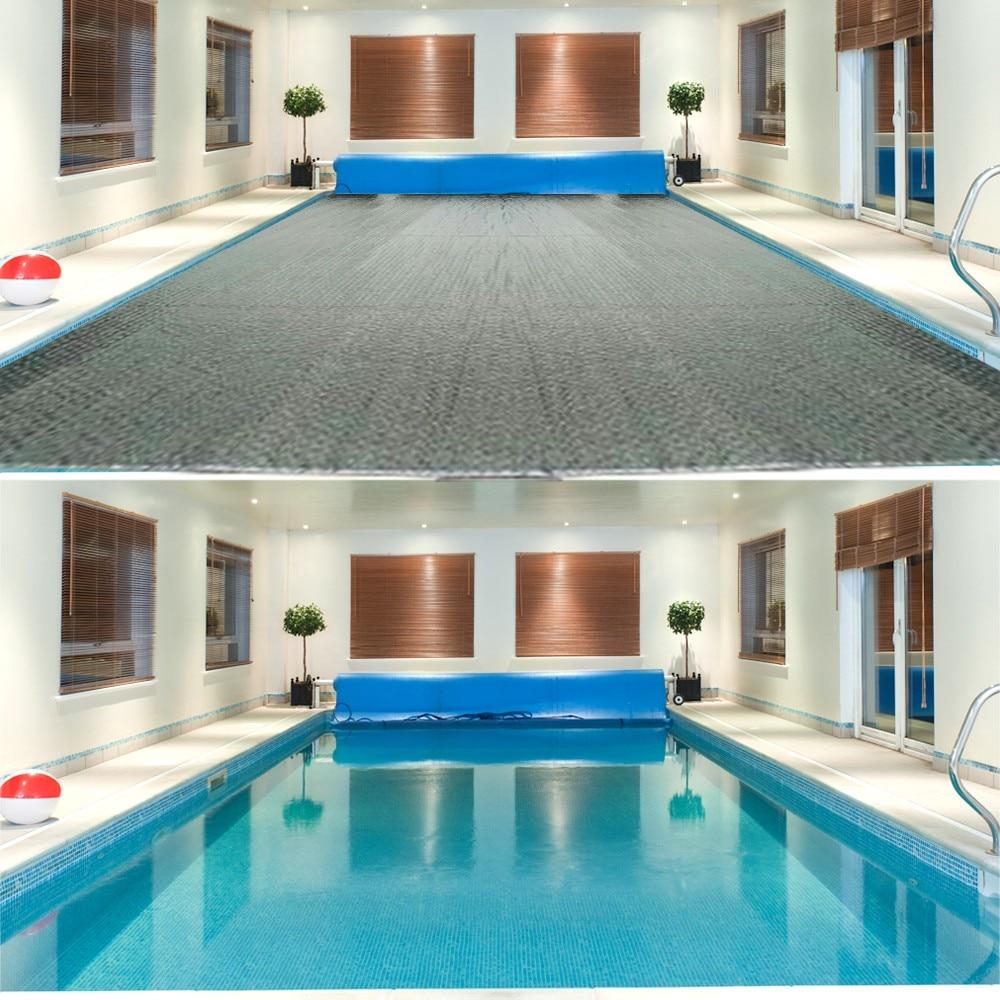 Alfombrilla estilo Piscina RECTANGULAR/redonda, cubierta de Piscina para jardín, exterior, remo, piscinas...
