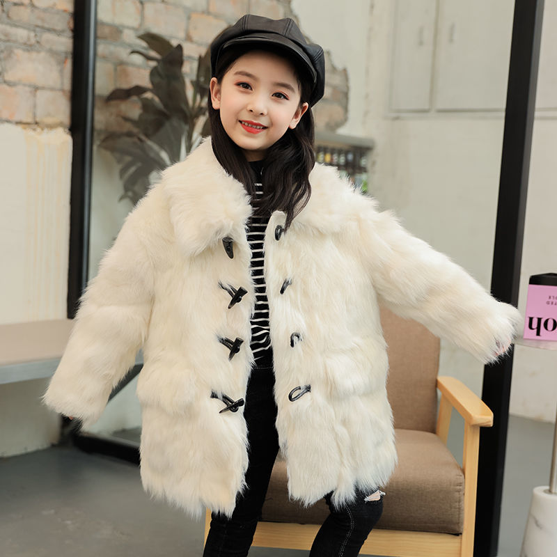 Baby Girls 2020 Winter Coat Kids Clothes Real Wool Fur Jacket For Girls Overcoat Baby Clothing Warm Outerwear Girls Costume W963