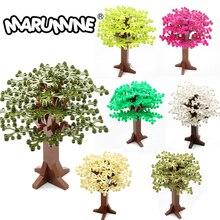 Marumine 165mm Building Bricks Tree Enlighten Blocks Natural and Technic Set Model Educational DIY Toys For Kids Gift