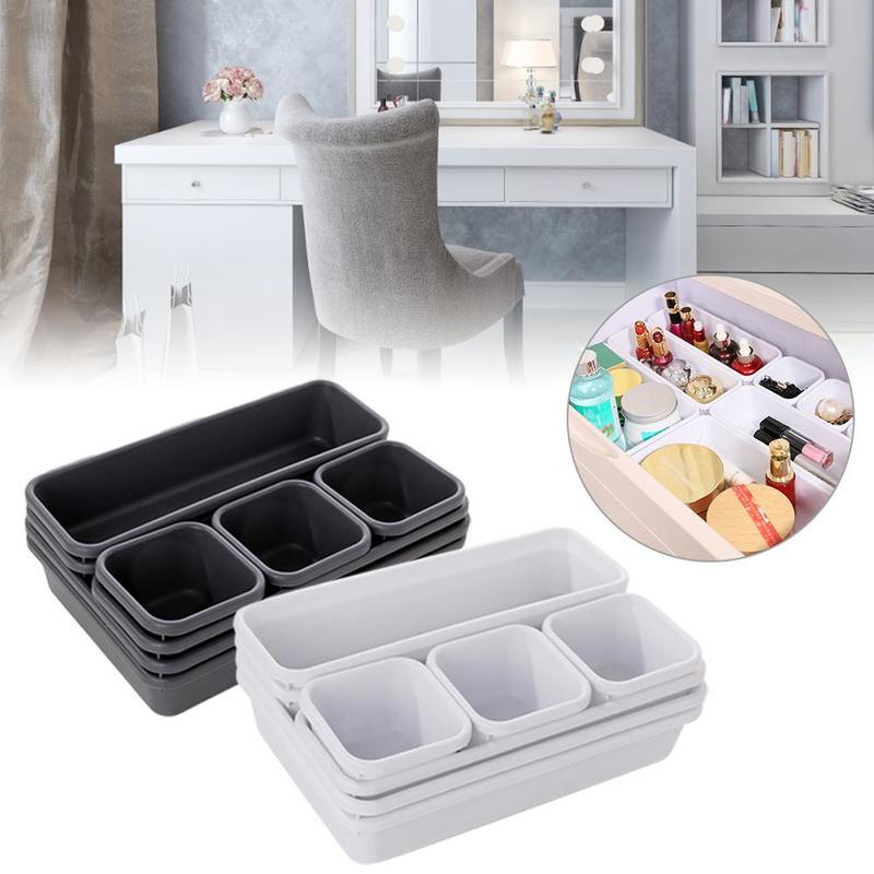 Sundries Storage Plastic Boxes Set Clothing Underwear Ties Socks Shorts Bra Sorting Divider Drawer Container Cabinet Organizer