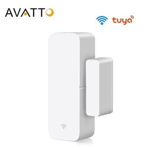 AVATTO Tuya WiFi Door Sensor, Smart Door Open/Closed Detectors, Smart Life APP Wifi Window Sensor Work with Alexa,Google Home