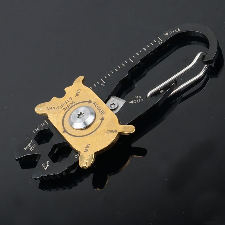 EDC Outdoor Multifunctional Combination Tool Portable Keychain Screwdriver Bottle Opener Tool Multi Gadget