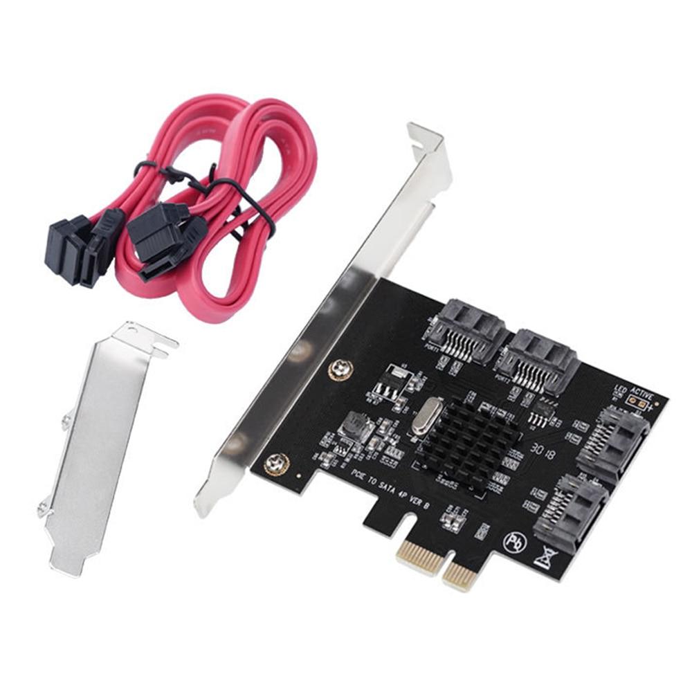 بطاقة توسيع SATA PCI-E إلى 4 منافذ SATA 3.0 محول بطاقة الناهض مع PCI Express X4 X8 X16 سطح المكتب قرص صلب بطاقة التوسع