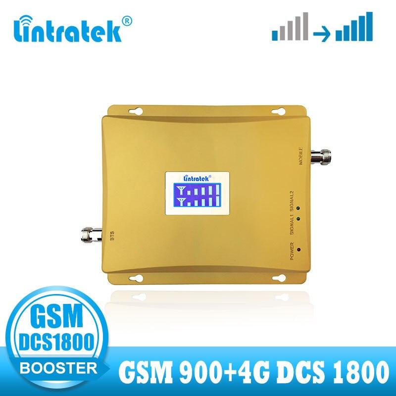 Lintatek 4G amplificador de señal GSM banda Dual móvil dcs 1800 4G repetidor de señal LTE 1800mhz GSM 900 amplificador