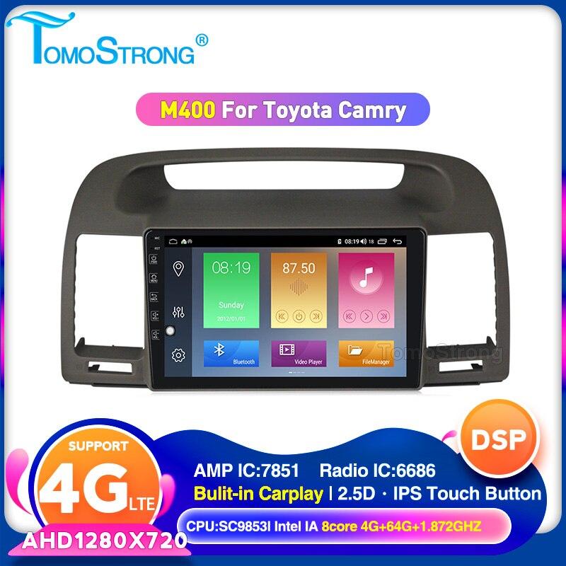 TOMOSTRONG 2Din GPS Für Toyota Camry 5 XV 30 2001-2006 Auto multimedia player IPS DSP 2,5 D bildschirm unterstützung carplay 4G LTE