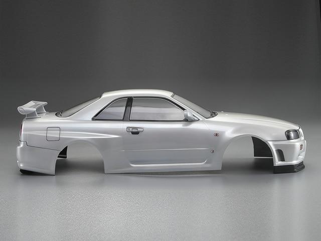 1/10 GTR GT-R Skyline BNR34 RC PC drift body shell complete body 257mm Wheelbase 195mm Width for yokomo mst XRAY 3-Racing D5S D4 enlarge