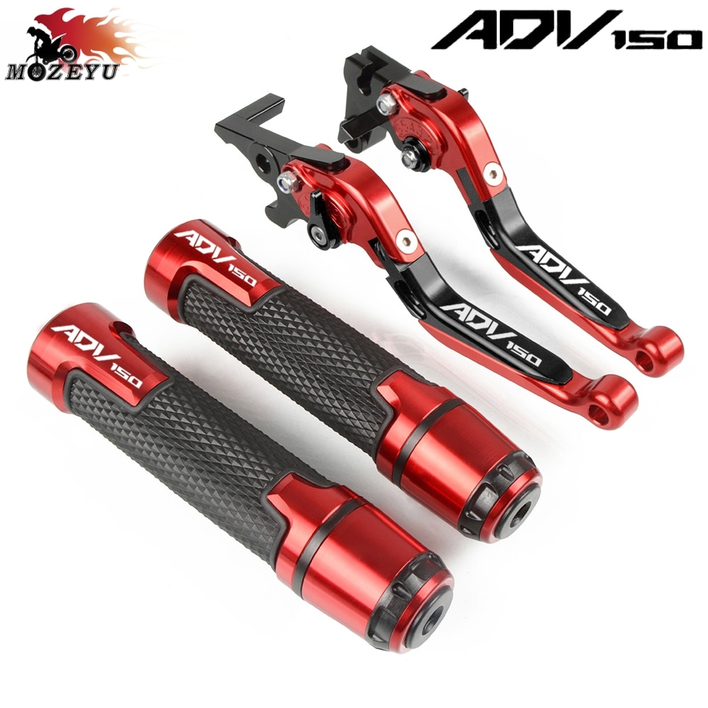 2020 nuevo CNC palanca de embrague de freno ajustable para motocicleta y juego de empuñaduras para HONDA ADV150 ADV 150 2019-2020 adv 150 empuñaduras de manillar