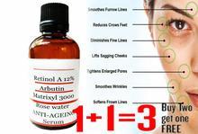 Oryginalny Retinol witamina A przeciwzmarszczkowy starzenie Serum do twarzy czysty kwas hialuronowy Matrixyl 3000 Serum kup 2 dostać 1 za darmo