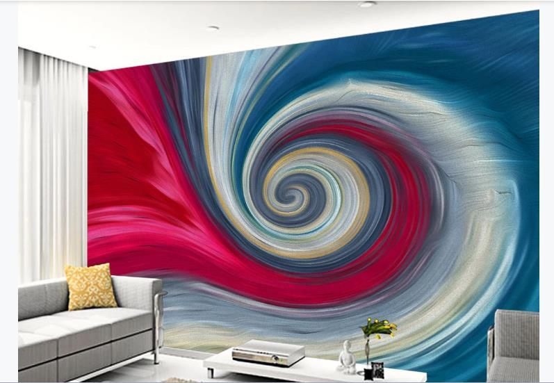 Papel De Parede abstrato 3D espiral Foto Papel De Parede Para Sala de estar Quarto TV Cenário Mural Moderno Feito Sob Encomenda
