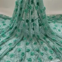 top grade white african lace fabric high quality beads lace embroidery bridal beads lace fabric for nigeria dress z0365