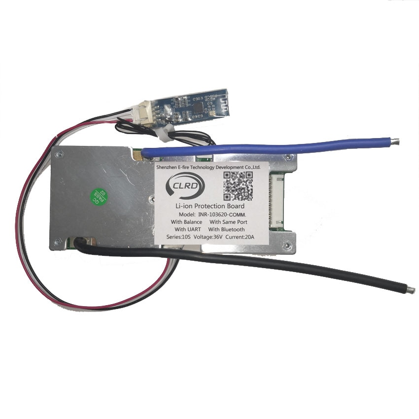 10s 36v 20A 30A 40A 50A 60A lithium ion smart bms with bluetooth module bms with UART communication