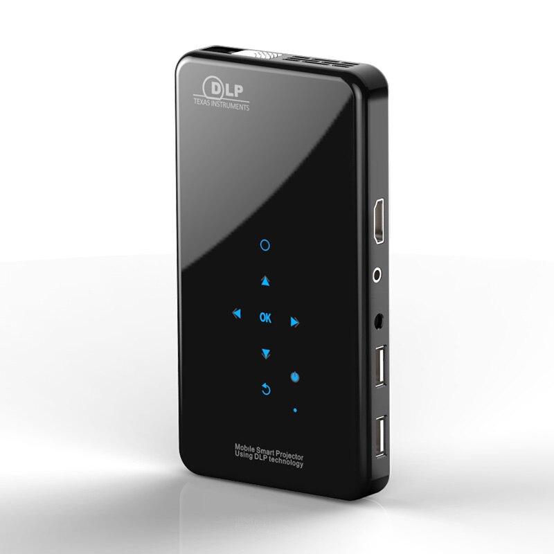 جهاز عرض محمول صغير X2 لاسلكي يعمل بنظام أندرويد 7.1 مناسب للسفر والتعليم والهواتف الذكية بشاشة فيديو مزودة بجيب بدقة 4K بدقة عالية