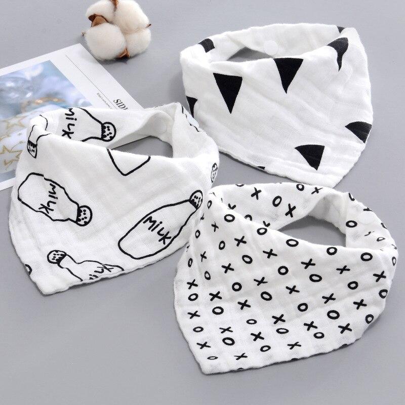 Garrafa de leite bebê menino menina babadores bandana absorver babador arroto pano triângulo algodão cachecol do bebê arroto bebê natal acessórios