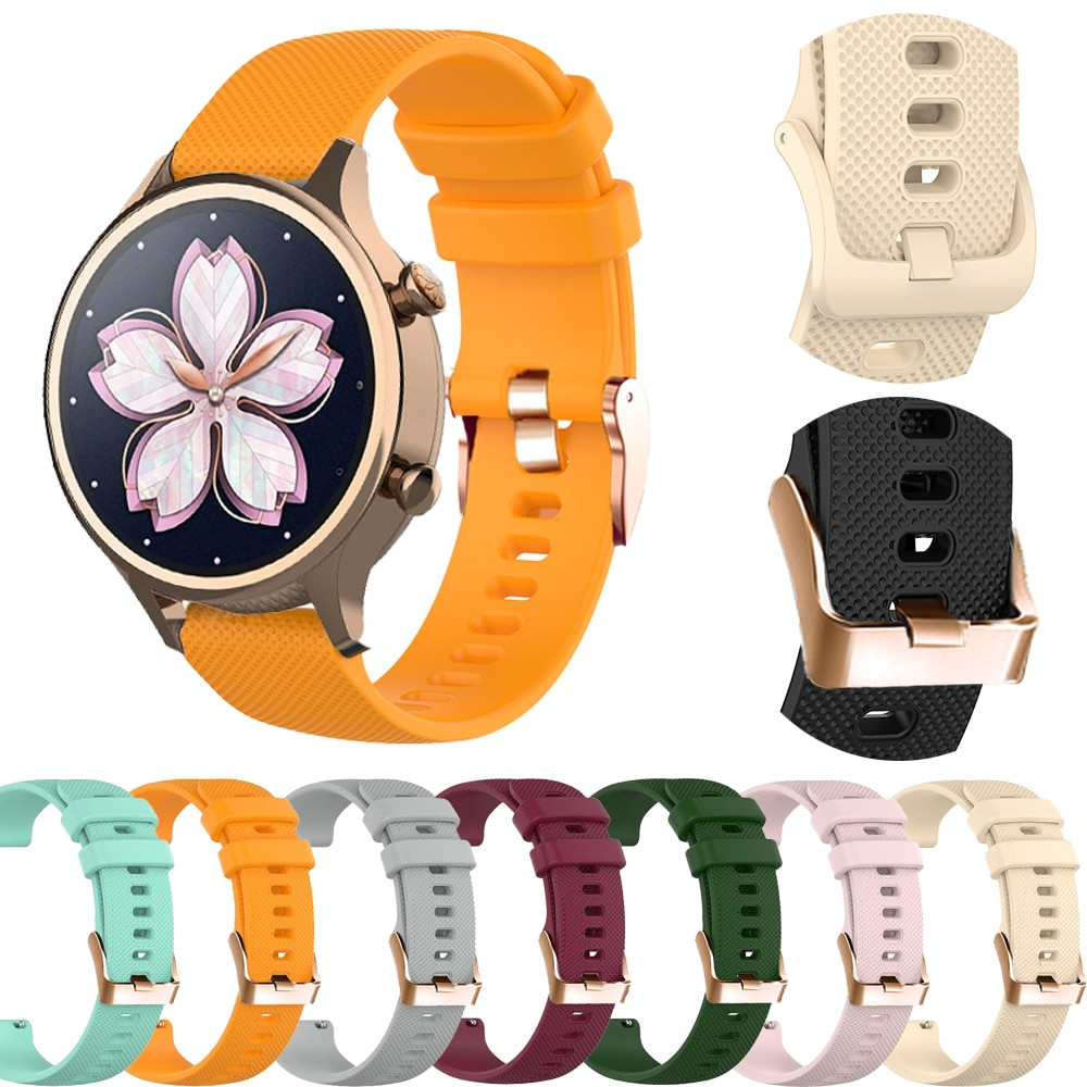 18mm Watch Band For Ticwatch C2/Garmin Vivoactive 3S/4S Move 3S ActiveS Rey Silicone Strap Smart Easyfit Replacement Accessories