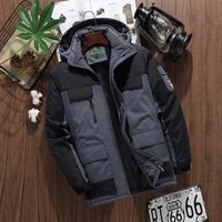 fashion mens jacket new style plus velvet padded hooded coat mens windproof and waterproof outdoor mountaineering clothes men