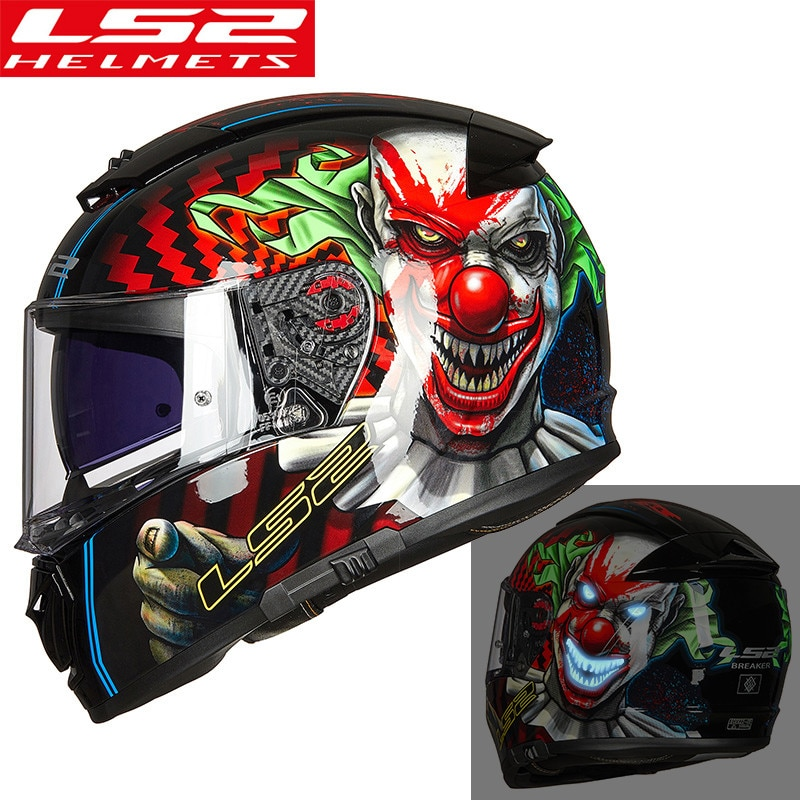 Casco de Moto rcycle LS2 FF390 Original con doble lente, casco de carreras para moto Man Woman capacete ls2 kask DOT