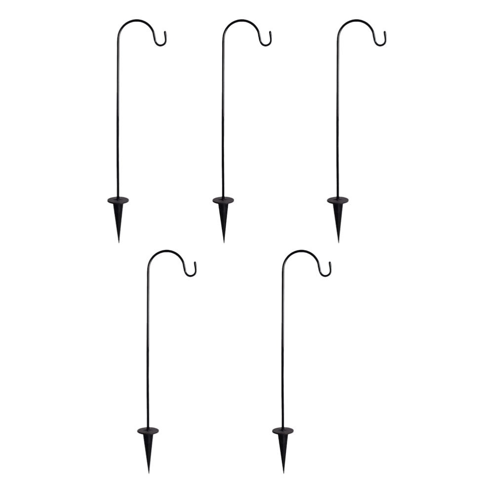 5 قطعة خطاف الراعي العملي الحديد فانوس الشماعات متعددة الوظائف حديقة السنانير