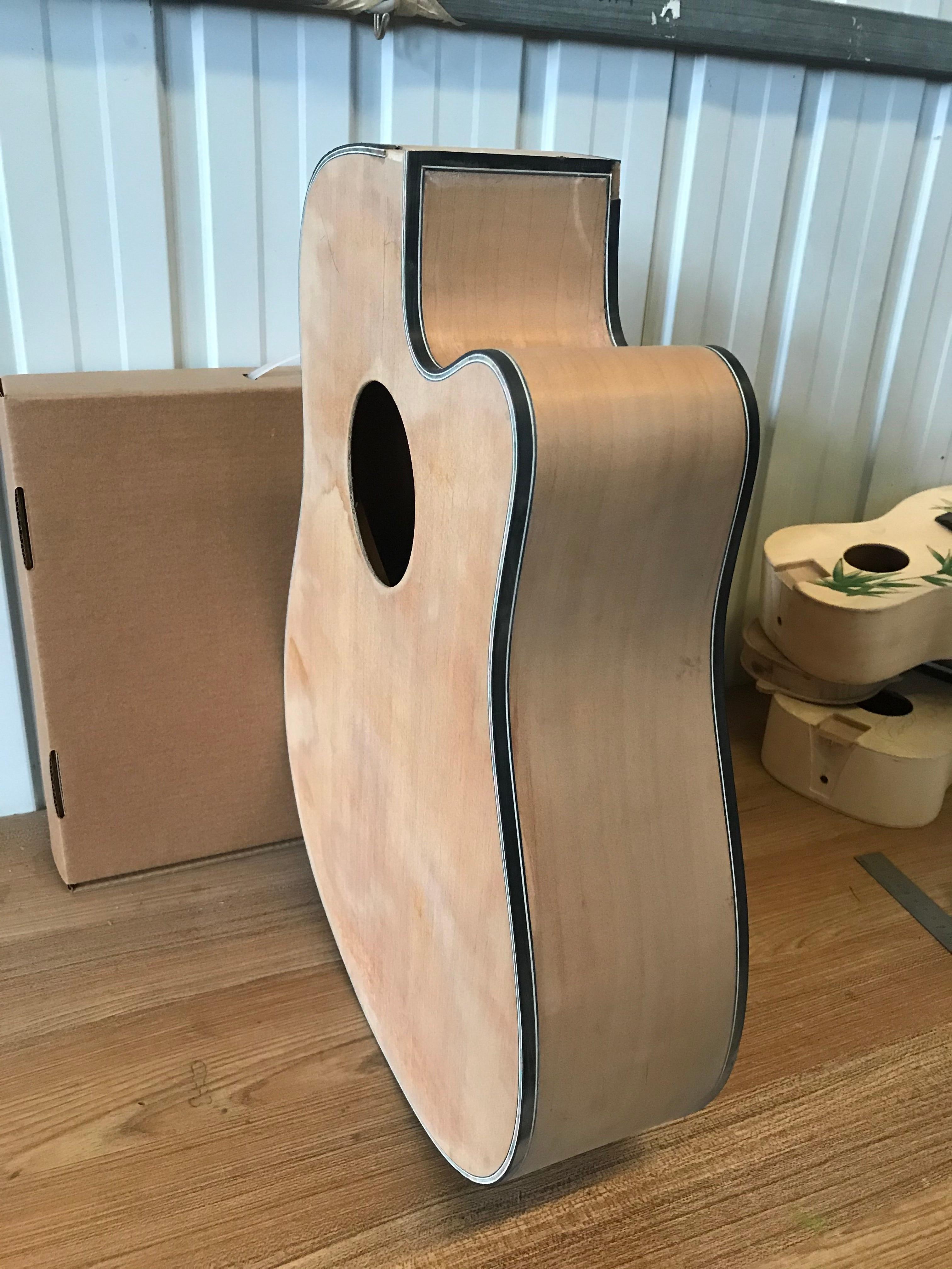 free fhipping Factory Custom solid wood D Shape acoustic guitar handmade Guitarra customize 41 inch  Spruce Veneer Guitar enlarge