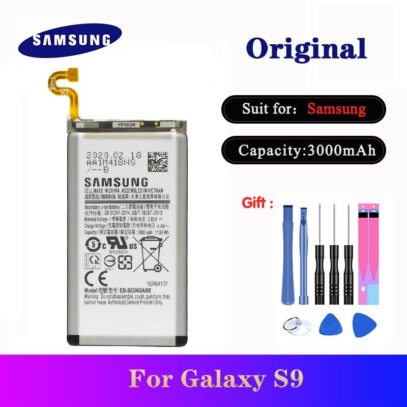 EB-BG960ABE de batería para Samsung Galaxy S9 SM-G960 G9600 G960F G960U G960W, repuesto original para teléfono, batería de 3000mAh