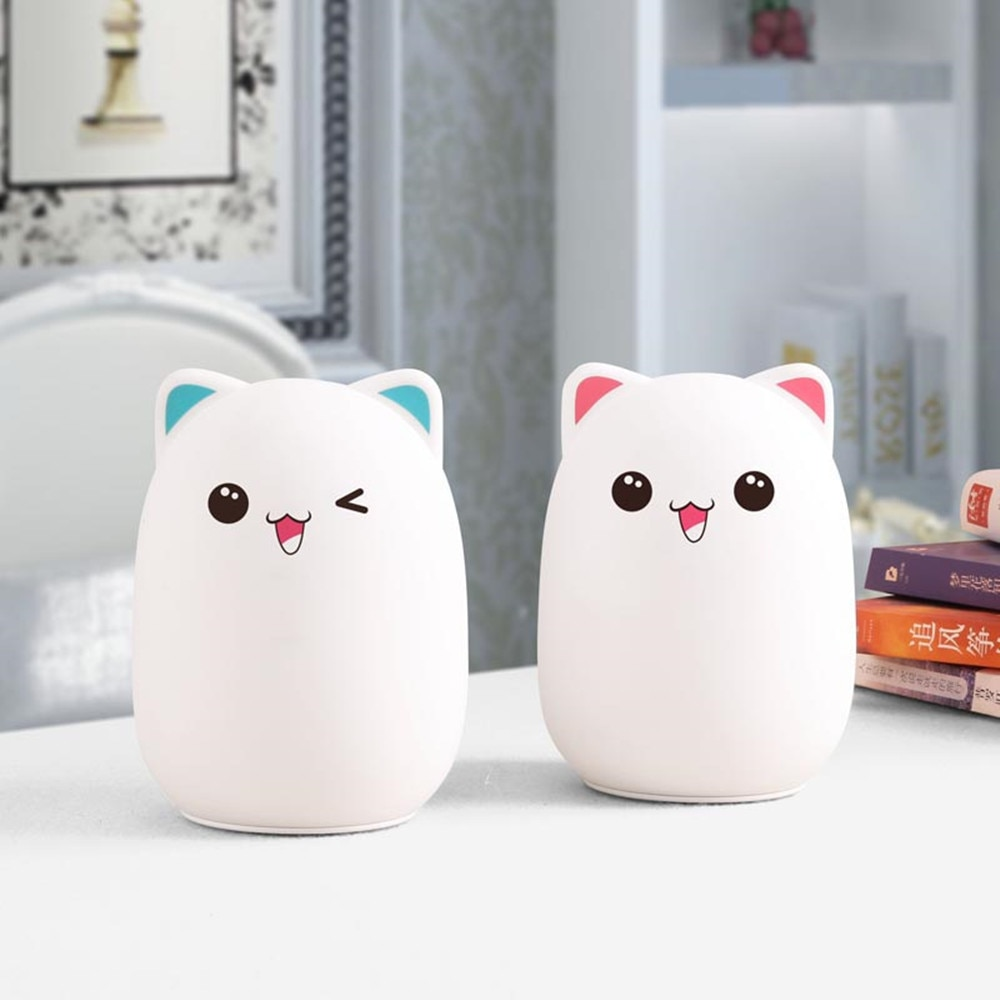 Bear LED Night Light Touch Sensor Remote Control RGB Dimmable USB Rechargeable Cartoon Silicone Lamp for Children Kids Baby Gift enlarge