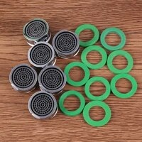 6pcs 24mm small threaded aerator bubbler sprayer water saving filter nozzle polished filter for kitchen
