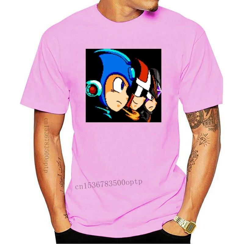 Camiseta para hombre y mujer, camiseta con imagen de píxel, MegaMan ProtoMan