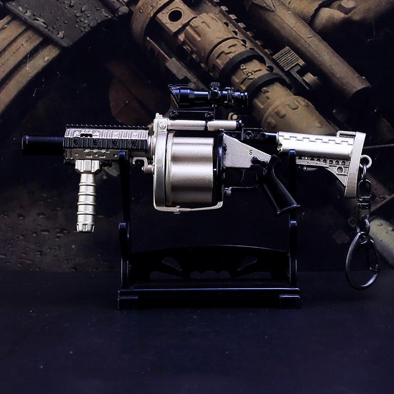 Mini pistola militar de Metal de aleación de Metal de gran tamaño MGL AKM SVD RPG, modelo de juguete, regalos para niños, pistola de Metal, cadena de control remoto