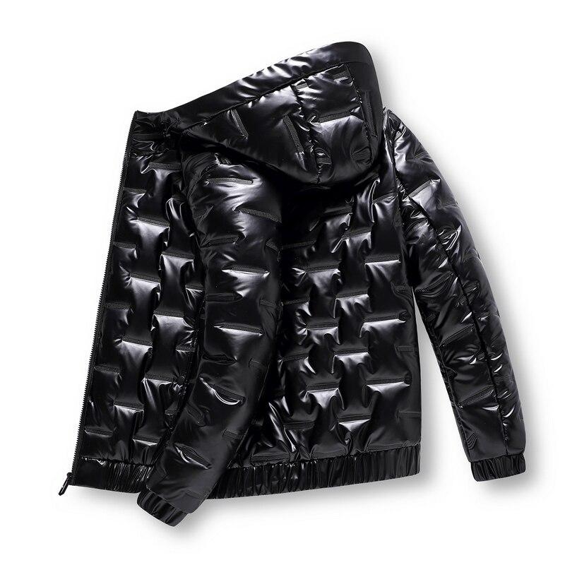 Осень 2021, одежда с пузырьковой подкладкой, зимние куртки, Мужская яркая парка, утепленные теплые Серебристые Водонепроницаемые куртки, мужс...