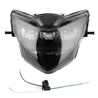 led headlight assembly 12v bright motorcycle head lamp modification fit for yamaha lc135 v2%e2%80%91v6smoky lens clearsmoked glass