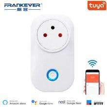 FrankEver Tuya Cloud 10A 16A Israel WiFi Smart Socket Power Monitor Wireless Plug Work with Alexa Google Home Smart Life APP
