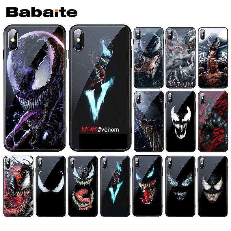 Babaite Venom 2018 Film MCU Tempered Glass Phone Case For iphone 11 Pro XS MAX XR 8 X 7 6S 6 Plus