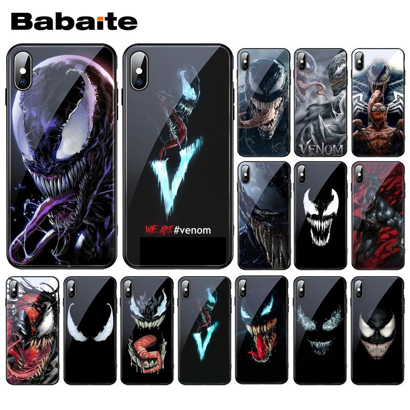 Babaite veneno película 2018 MCU de cristal templado de teléfono caso para iphone 11 Pro XS MAX XR 8X7 6S 6 Plus